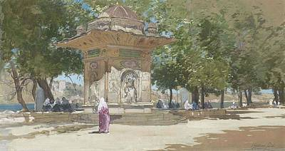 Francis Hopkinson Smith ,the Temple Of Sweet Water, Turkey Poster