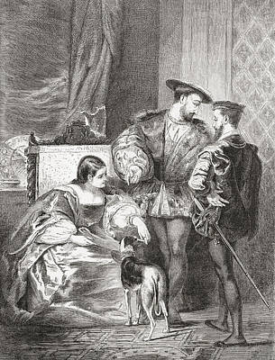 Francois I, 1494-1547, Anne De Poster by Vintage Design Pics