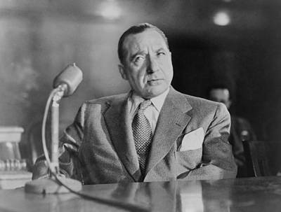 Frank Costello 1891-1973, Testifying Poster by Everett