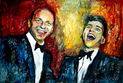Frank Sinatra And Frankie Jr Poster