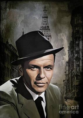 Poster featuring the painting  Frank Sinatra by Andrzej Szczerski