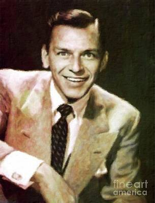 Frank Sinatra, Hollywood Legend By Mary Bassett Poster by Mary Bassett