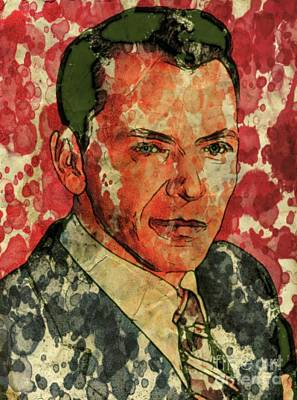 Frank Sinatra Hollywood Singer And Actor Poster by Mary Bassett