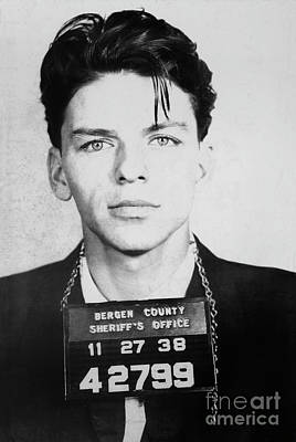 Frank Sinatra Mugshot Poster by Jon Neidert