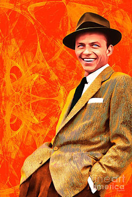Poster featuring the photograph Frank Sinatra Old Blue Eyes 20160922 by Wingsdomain Art and Photography