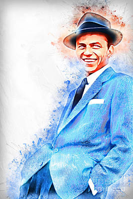 Frank Sinatra Old Blue Eyes 20161101 Poster by Wingsdomain Art and Photography