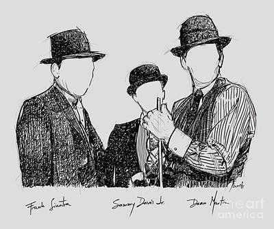 Frank Sinatra, Sammy Davis Jr And Dean Martin, A Part Of The Rat Pack Poster