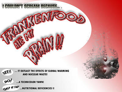 Poster featuring the photograph Frankenfood by Christopher Woods