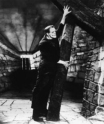 Frankenstein Boris Karloff Classic Film Image  Poster