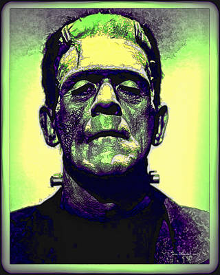 Frankenstein In Color Poster