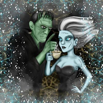 Frankenstien Fantasy Art Poster