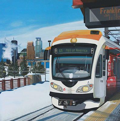 Franklin Avenue Station Poster by Jude Labuszewski