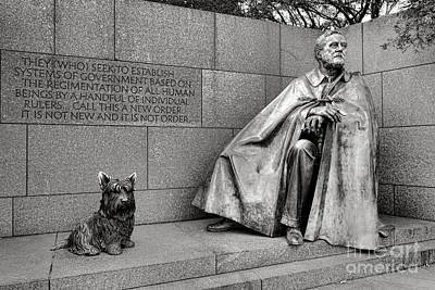 Franklin Delano Roosevelt Sculpture  Poster by Olivier Le Queinec