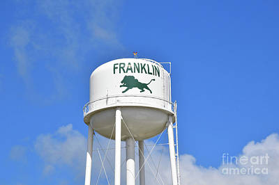 Franklin Texas Water Tower Poster