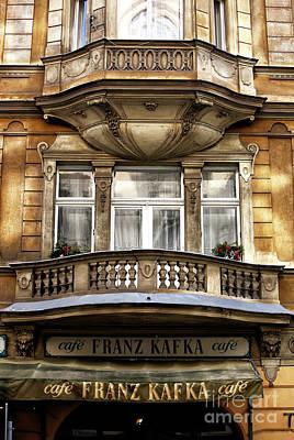Franz Kafka Cafe Poster by John Rizzuto