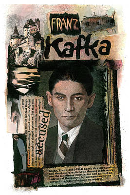 Poster featuring the painting Franz Kafka by John Dyess