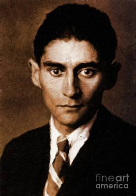 Franz Kafka, Literary Legend By Mary Bassett Poster by Mary Bassett