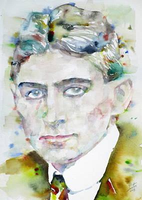 Franz Kafka - Watercolor Portrait.6 Poster