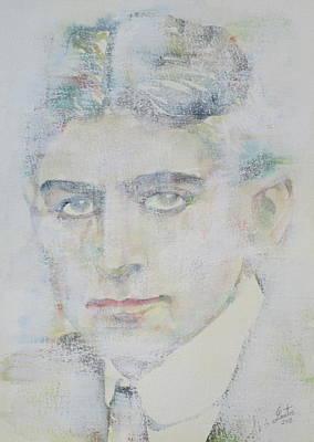 Franz Kafka - Watercolor Portrait.7 Poster
