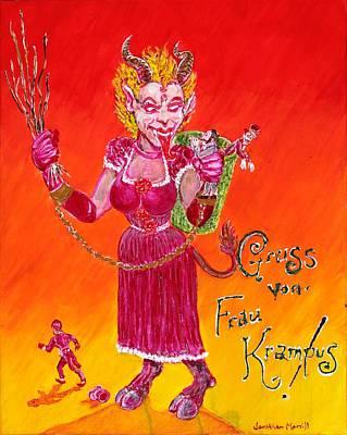 Frau Krampus Poster