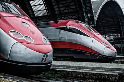 Freccia Rossa Trains. Poster by Pablo Lopez