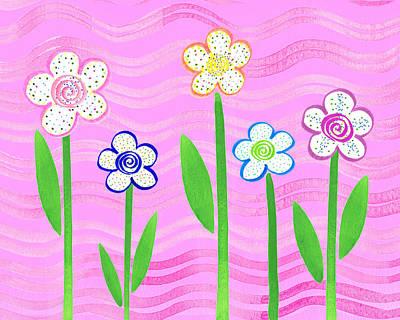 Freckled Floral Garden Poster by Irina Sztukowski