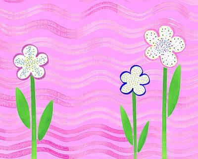 Freckled Flowers In The Garden Poster by Irina Sztukowski