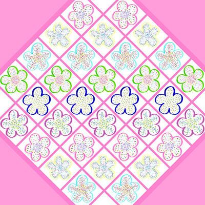 Freckled Flowers Quilt Poster by Irina Sztukowski