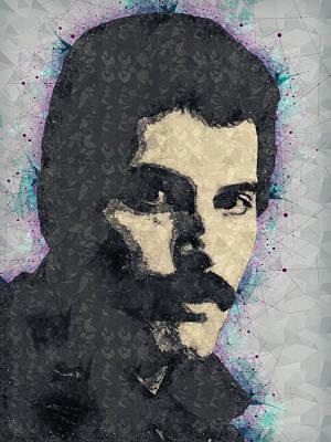 Freddie Mercury Illustration Poster