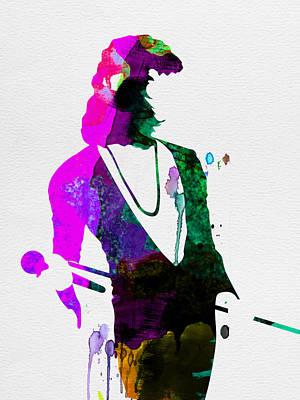 Freddie Watercolor Poster by Naxart Studio