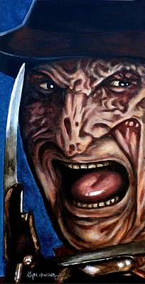 Poster featuring the painting Freddy Up Close And Personal by Al  Molina