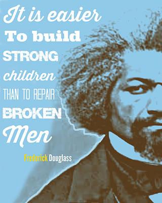 Frederick Douglass Blue Poster by Millian Glenn