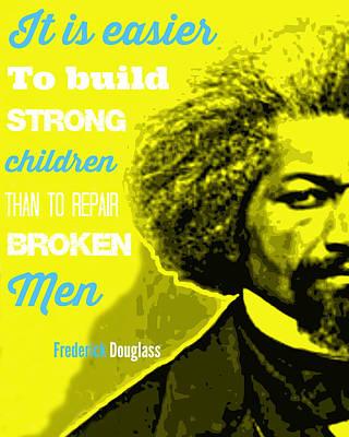 Frederick Douglass Yellow Typography And Word Art Poster by Millian Glenn
