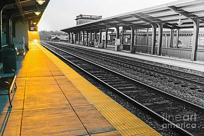 Fredricksburg Train Station At Sunset Poster by Thomas Marchessault
