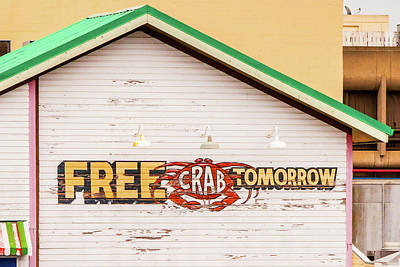 Free Crabs Tomorrow Poster