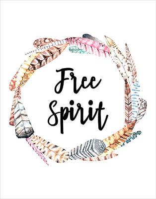 Poster featuring the digital art Free Spirit by Jaime Friedman
