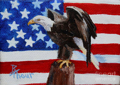 Freedom Aceo Poster by Brenda Thour