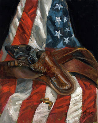 Poster featuring the painting Freedom by Billie Colson