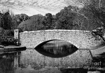 Freedom Park Bridge In Black And White Poster