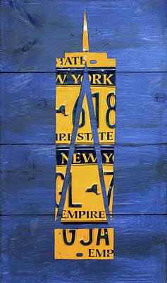 Freedom Tower World Trade Center New York City Skyscraper License Plate Art Poster