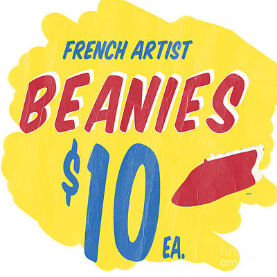 French Artist Beanies Poster