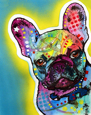 Poster featuring the painting French Bulldog by Dean Russo
