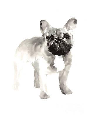 French Bulldog Drawing For Nursery Room Poster by Joanna Szmerdt