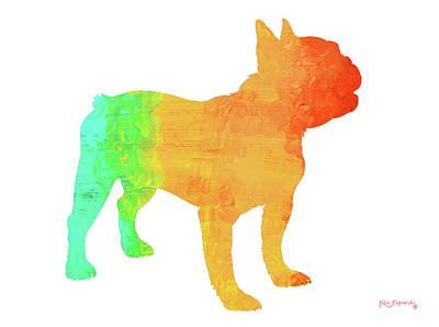 French Bulldog Art Poster by Ken Figurski