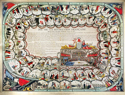 French Game Board, 1791 Poster