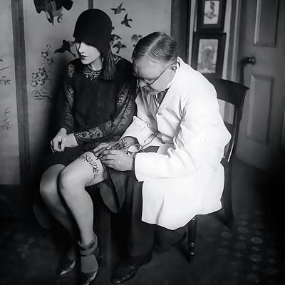 French Garter Tattoo   1930 Poster