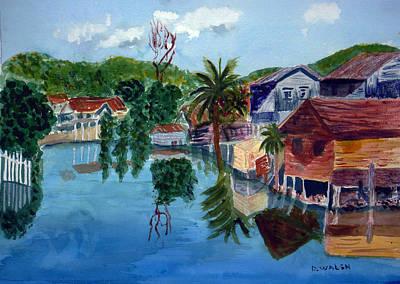 French Harbor Isla De Roatan Poster