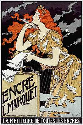 French Ink Advertisement Poster