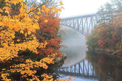French King Bridge Autumn Poster