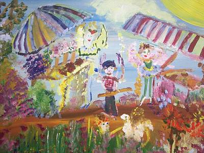 French Market Fairies Poster by Judith Desrosiers